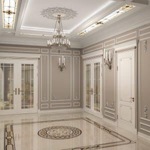 Апартаменты в классическом стиле в ЖК Карвен на 200 кв м