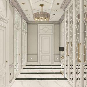 Квартира в стиле неоклассики площадью 80 кв м в ЖК «Манхэттен»