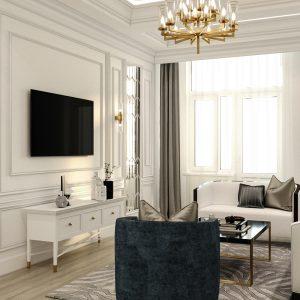 """Квартира в стиле неоклассики площадью 80 кв м в ЖК """"Манхэттен"""""""
