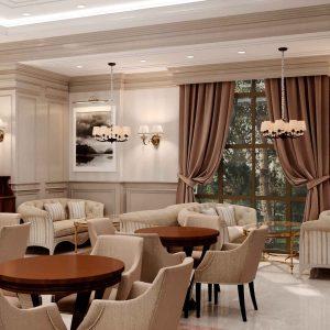 Ресторан в классическом стиле в бизнес-центре по ул.Калык-Акиева