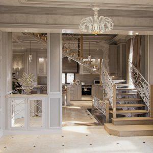 гостиная комната в классическом стиле  на  60 квм.