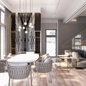 Жилой дом в современном стиле на 260 квм.