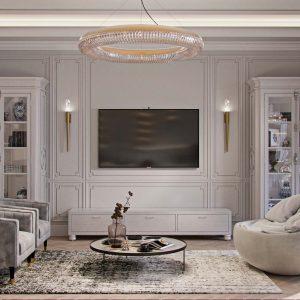квартира с стиле неоклассика 143квм. в ЖК «Монако»